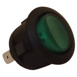 Green round switch light Ø20mm