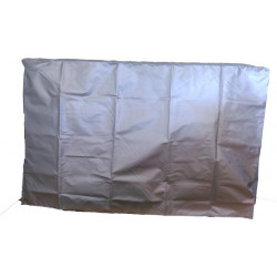 Grey protective dust cover for pool heat pump - WarmPool